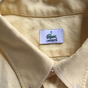 Lacoste Shirts - Lacoste men short sleeve button up shirt